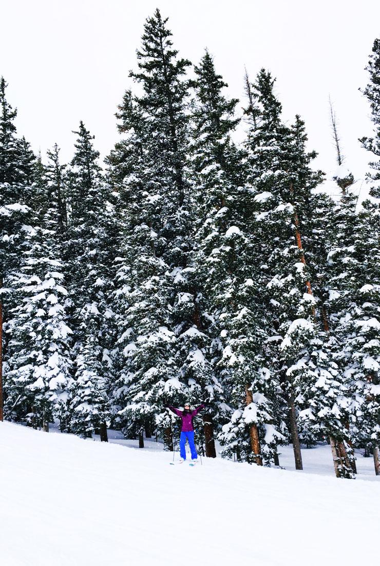 Fresh powder skiing at Beaver Creek in Colorado | www.cupcakesandthecosmos.com