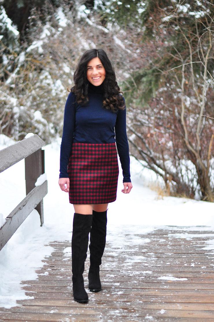 Buffalo Check Skirt in Beaver Creek