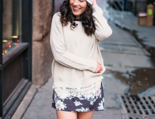 Four Ways To Style A Floral Dress in Winter: Comfy Cozy   www.cupcakesandthecosmos.com