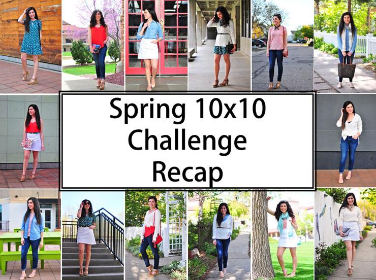 Spring 10x10 Challenge Recap | www.cupcakesandthecosmos.com