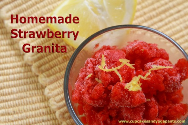 Homemade Strawberry Granita