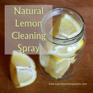 Natural Lemon Cleaning Spray