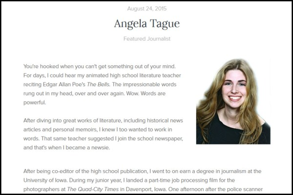 Angela Tague on Newsmodo
