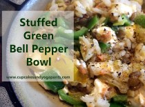 Stuffed Green Bell Pepper Bowl (Gluten Free, Vegetarian)