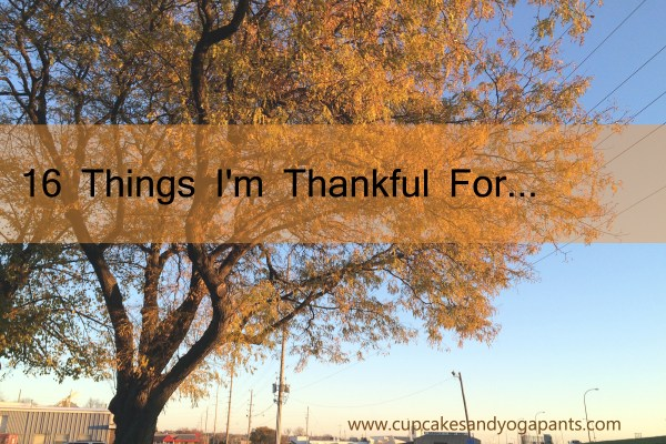 16 Things I'm Thankful For...