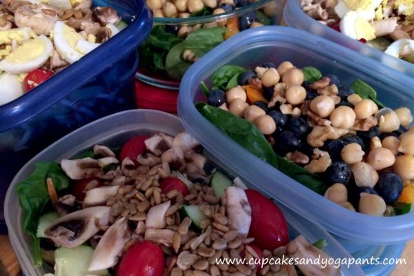 So today's healthy decision will make an impact on each day this week. Food prep! With the hot, humid days of summer in full swing, all I really want to eat are cold salads. So, I decided to whip up a few random combinations to take to work for lunches this week.