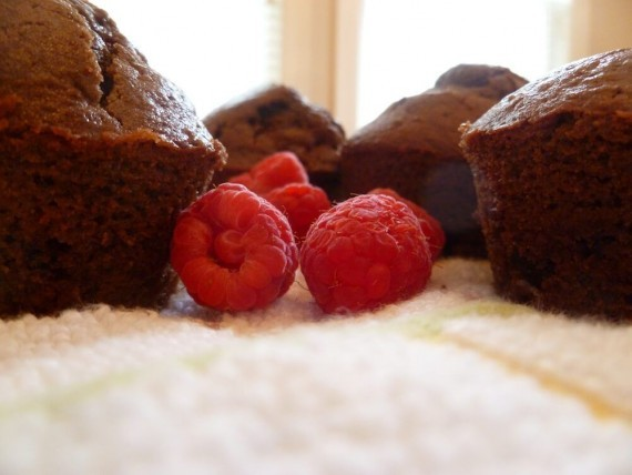 Chocolate Raspberry Muffins