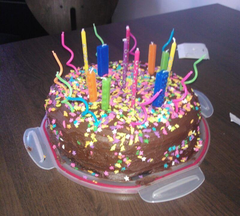Pleasant Chocolate Irish Cream Birthday Cake Cupcakes For Dinner Personalised Birthday Cards Veneteletsinfo