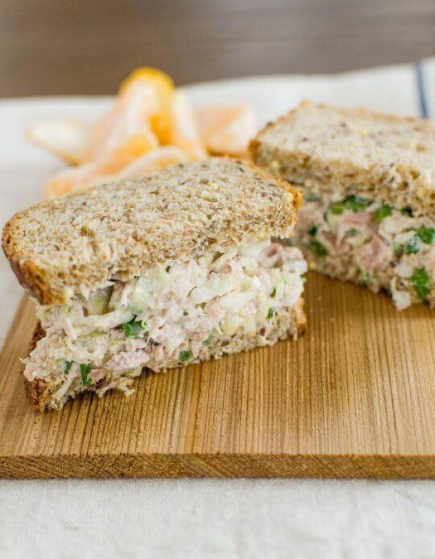 Tuna-cabbage-sandwich