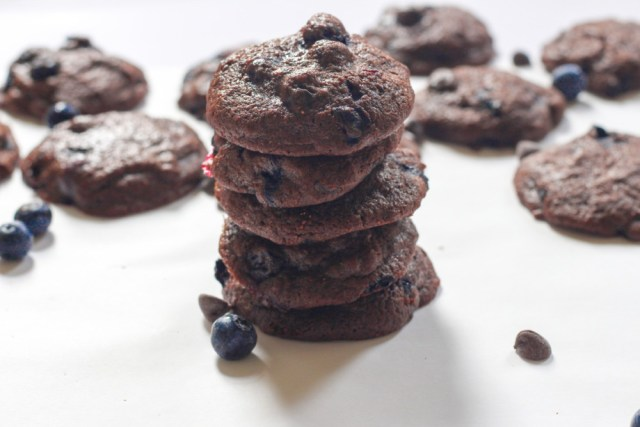 Chocolate Blueberry Cookies