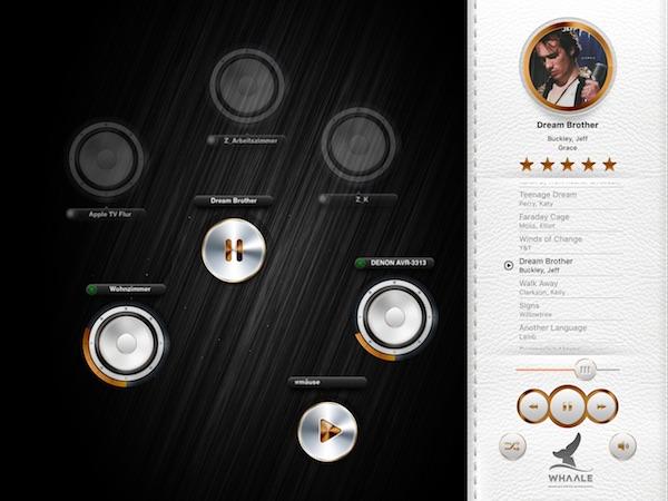 Benutzeroberfläche von WHAALE im Wiedergabemodus