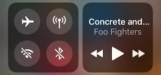 WLAN und Bluetooth, Kontrollzentrum iOS 11 vollständig deaktiviert