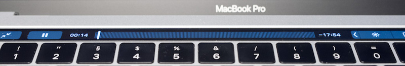 MacBook Pro - Touchbar - Videolaufleiste
