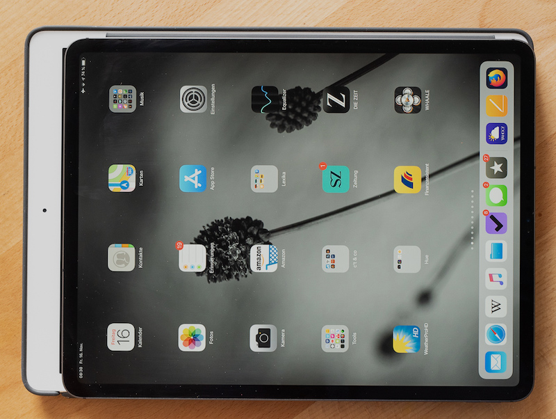 iPad Pro mit Face ID 12,9 Zoll (2018) im Vergleich mit Gerät 2015