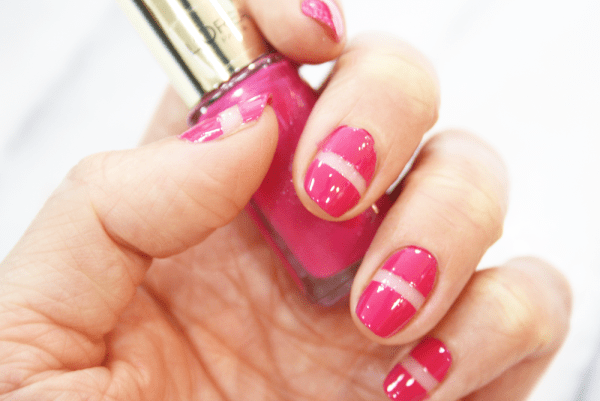 Its All In The Stripes Nail Art Tutorial Cupful Of Sprinkles
