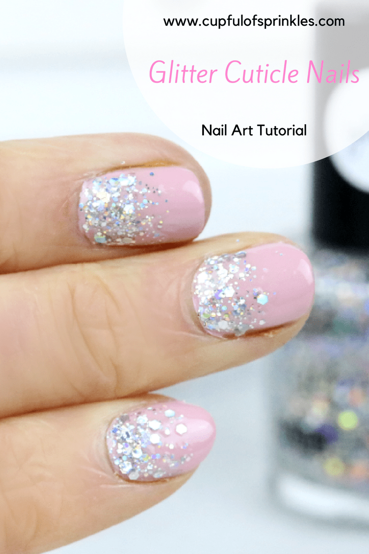 Glitter Cuticles Nail Art Tutorial