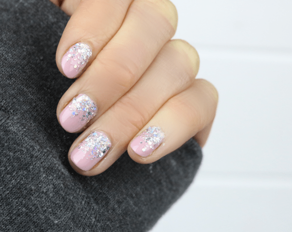 Glitter Cuticle Nails