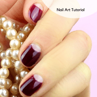 Half Moon Nails - Nail Art Tutorial