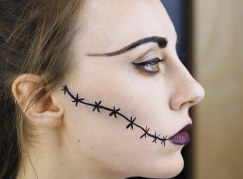Monster Bride Halloween Makeup Tutorial - Cupful of Sprinkles