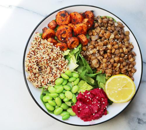 Lentil Protein Bowl - Cupful of Sprinkles