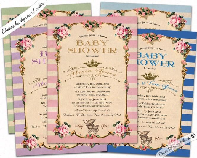 Royal Carriage Baby Shower Invitation Cupid Design Studio