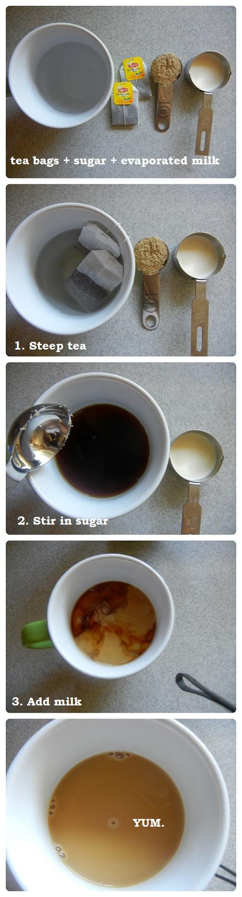Hong Kong Style Milk Tea! Easy and delicious!