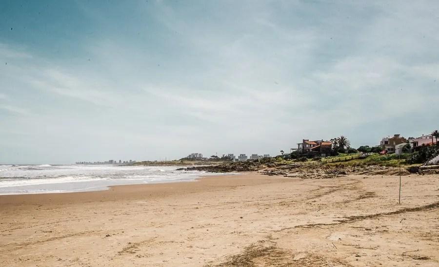 the beach at la barra, punta del este uruguay