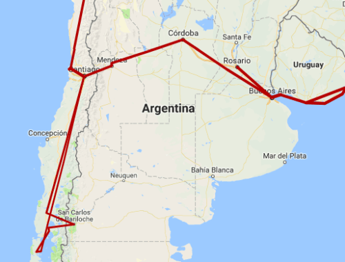 argentina trip itinerary 5 6 weeks bariloche buenos aires mendoza cordoba rosario chile where to go travel guide latin south america