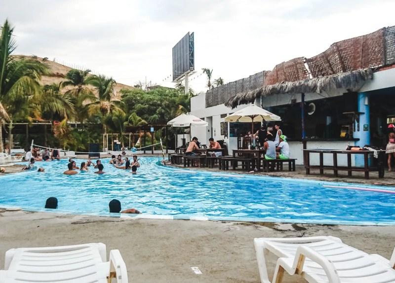 pool of hostel loki mancora peru