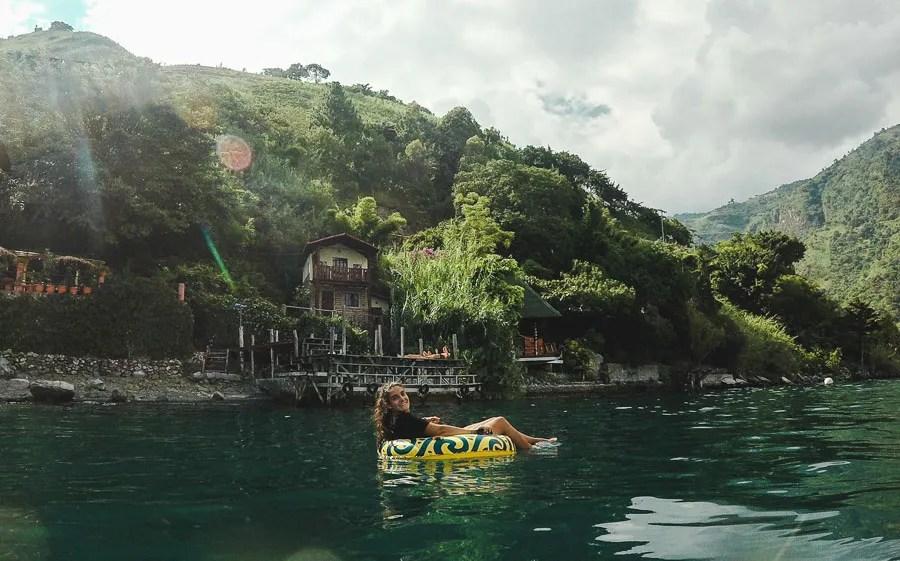 tubing on lake atitlan: 2 weeks in guatemala itinerary