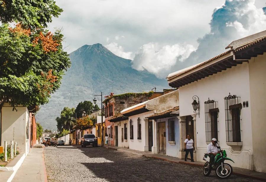 antigua streets: 2 weeks in guatemala itinerary