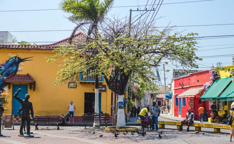 Getsemani streets: best places to stay in Cartagena Colombia