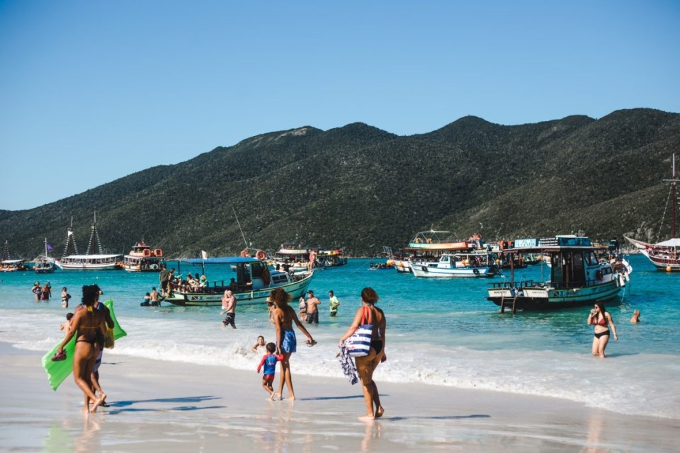Prainhas do Atalaia Arraial do Cabo beaches Brazil | Cuppa to Copa Travels South America Guides passeio barco