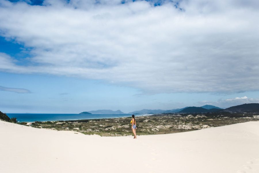 2 weeks south brazil itinerary trip plan Dunas Joaquina sand dunes Florianopolis travel guide Floripa Brazil