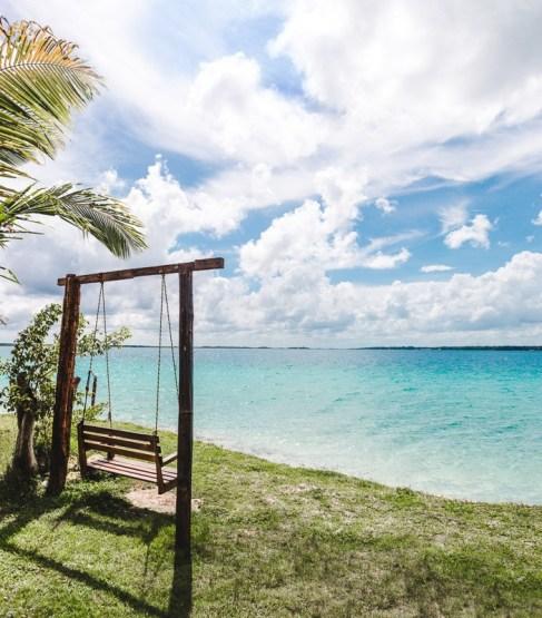 9 things to do in Bacalar | Lake Bacalar swing seat