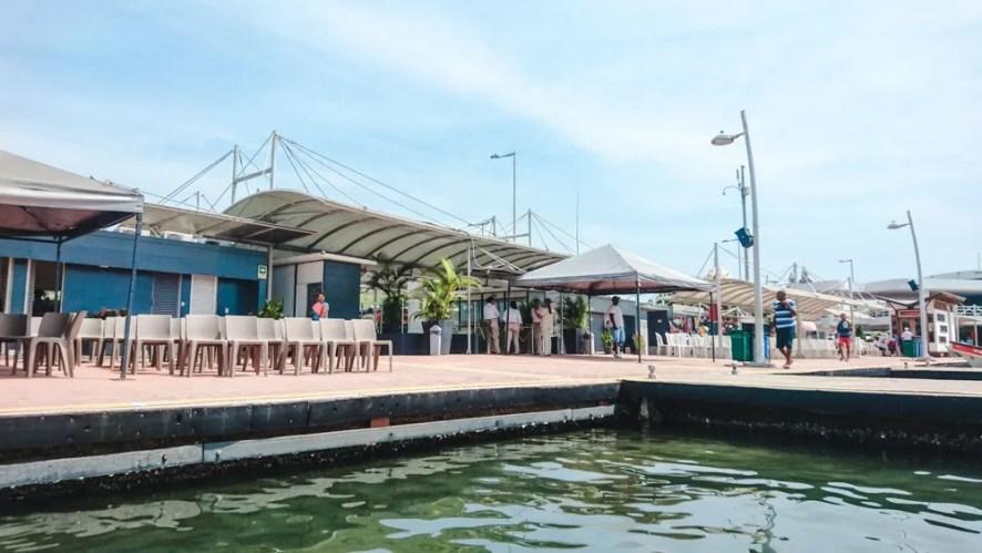la muralla port for boat tours from cartagena to isla baru and rosario islands colombia