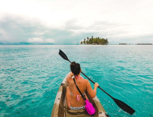 2 weeks backpacking in panama itinerary: san blas island kayaking
