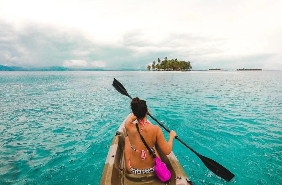 2 weeks backpacking in panama itinerary: san blas island kayaking