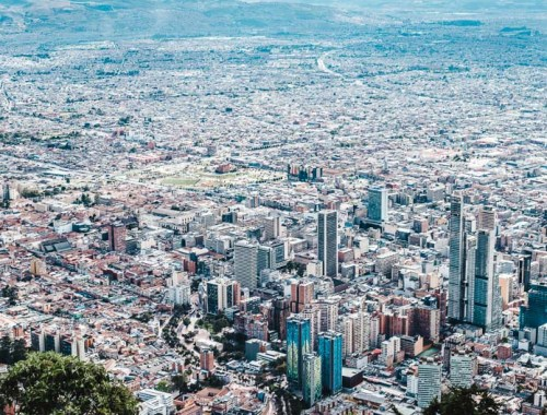 view of the city from monserrate: best time to visit bogota altitude