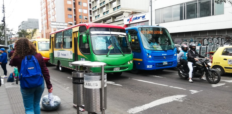 buses in bogota colombia