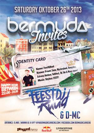 Feest DJ Ruud at Bermuda Curacao
