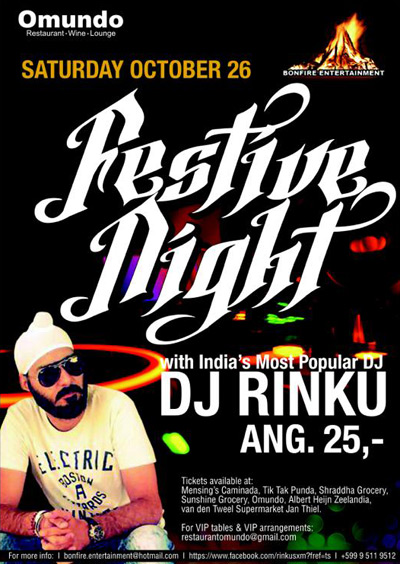Festive Night at Omundo with DJ Rinku