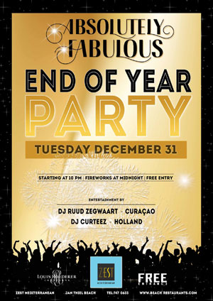 End of Year Party at Zest Curacao