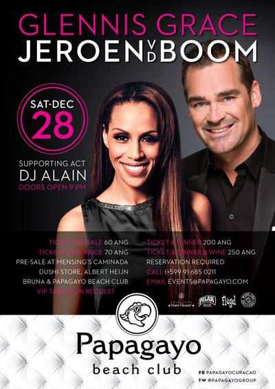 Glennis Grace & Jeroen van der Boom in Curacao