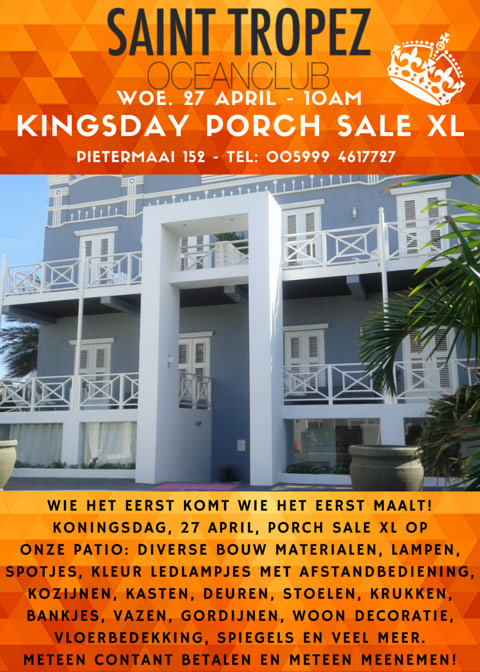 King\'s Day Porch Sale XXL - Curaçao Party Guide