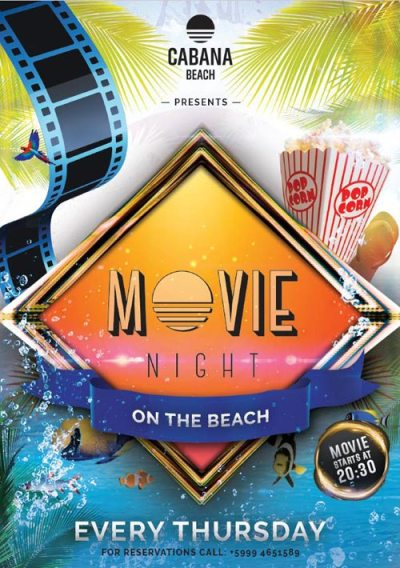 Movie Night at Cabana Beach Curacao