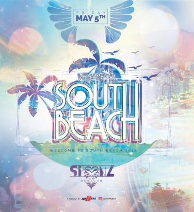 Welcome to South Beach 2017 at Club Spoonz Curacao