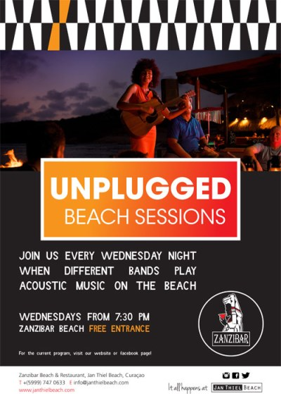 Unplugged Beach Sessions at Zanzibar Curacao