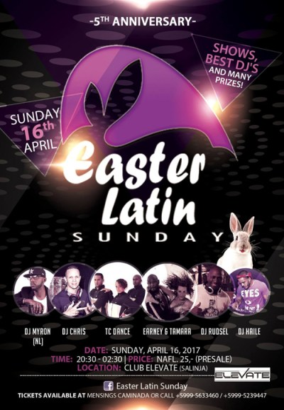 Easter Latin Sunday 2017 at Club Elevate Curacao
