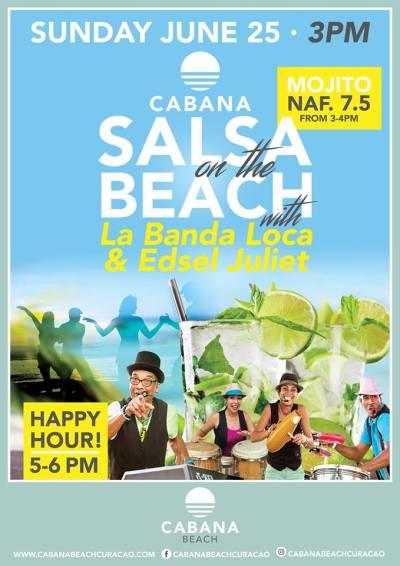 Salsa on the Beach at Cabana Beach Curacao